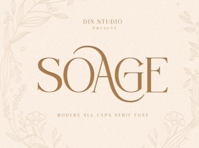 SOAGE - Modern Serif Font
