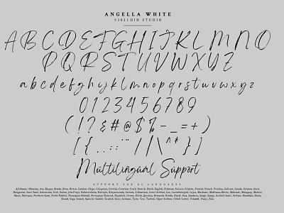 Anggela White - Handwritten brush font handwritten brush logo design lettering handlettering font typography logo type fonts branding