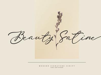 Beauty Satine - Modern signature font script font handwritten font brush illustration design lettering handlettering font typography logo type fonts branding