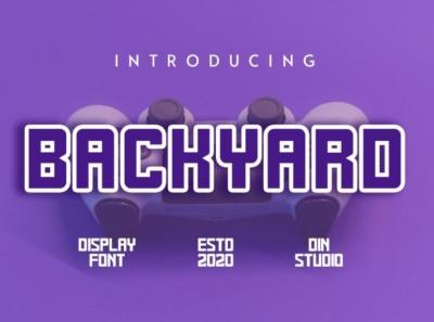 BACKYARD  - Display font