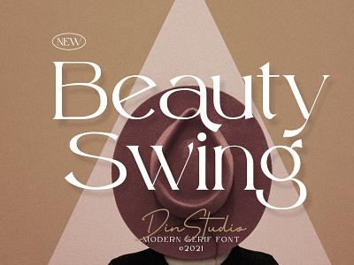 Beauty Swing - Modern Serif Font handwritten lettering handlettering font typography logo type fonts branding