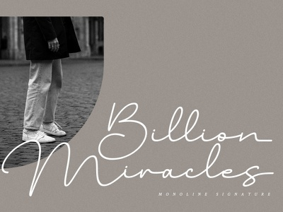 Billion Miracles - Monoline Signature Font