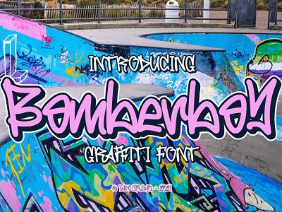 Bomberboy - Graffiti style font graffiti graffiti font logo illustration design lettering handlettering font typography logo type fonts branding