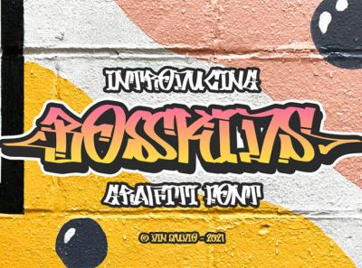 BOSSKIDS - Graffiti font murall mural font graffiti font graffiti logo illustration design lettering handlettering font typography logo type fonts branding