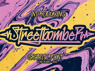Streetbomber - Graffiti Font graffiti font murall graffiti logo illustration design lettering handlettering font typography logo type fonts branding