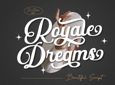 Royale Dream - Beautiful Script Font handwritten font beautiful font logo illustration design lettering handlettering font typography logo type fonts branding