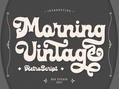 Morning Vintage - Retro Script Font script font logo illustration design lettering handlettering font typography logo type fonts branding