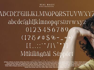Real Magic - Brand New Serif Typeface new font modern font serif font logo design font typography logo type fonts branding
