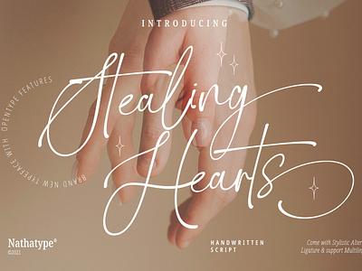 Stealing Hearts - Handwritten Font typeface typography design logo illustration lettering handlettering font logo type fonts branding
