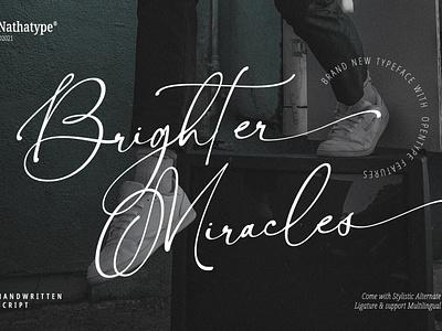 Brighter Miracles - Handwritten Script Font handwritten font illustration lettering handlettering typography font logo type fonts branding