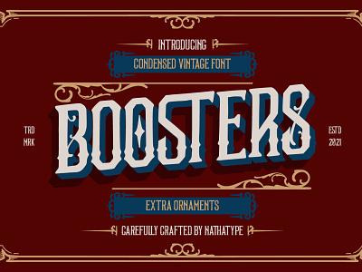 BOOSTERS - Modern Vintage Font ornament font ornament vintage vintage font logo illustration design lettering handlettering typography font logo type fonts branding