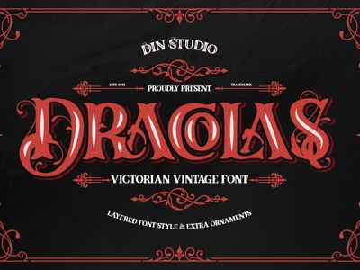 DRACOLAS - A New Vintage Font logo lettering decorative font vintage font vintage design handlettering typography font logo type fonts branding