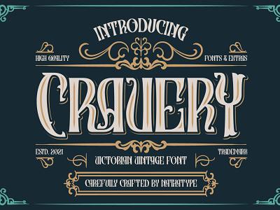 CRAVERY - Victorian Vintage Font vintage font vintage logo illustration design lettering handlettering typography font logo type fonts branding