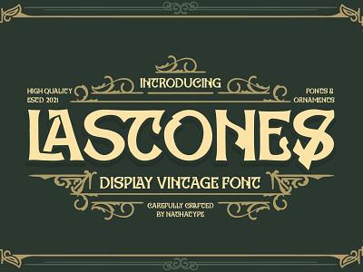 LASTONES - Display vintage font vintage logo handlettering typography font logo type fonts branding