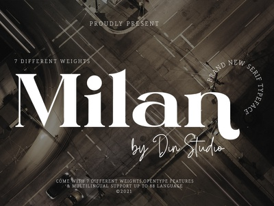 Milan - Serif Font Family design serif font serif free font new font display font modern font font family logo typography font logo type fonts branding