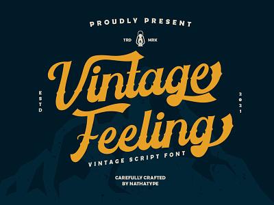Vintage Feeling - Vintage Script Font script font script vintage font vintage alphabet abc ui logo illustration design handlettering typography font logo type fonts branding