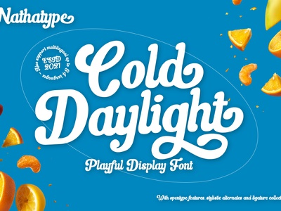 Cold Daylight - Display Font typography branding logo typeface design graphic design fonts font