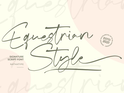 Equestrian Style - Signature Font handlettering design typography logotype logo branding fonts font