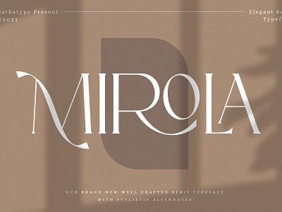 Mirola - Serif Font design logo type typography typeface logo branding font fonts