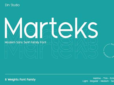 Marteks - Sans Serif Family Font logo design typography logo type branding font fonts