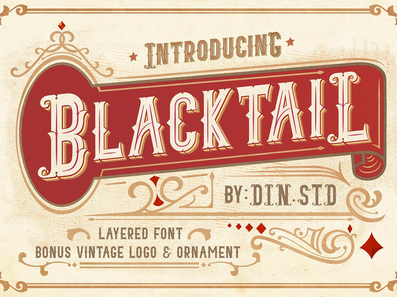 Blacktail Vintage Font vintage badge vintage logo typography logo type branding vintage font vintage
