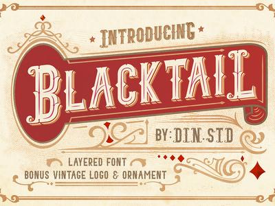 Blacktail Vintage Font