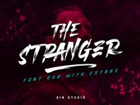 The Stranger Brush Font Duo + Extras
