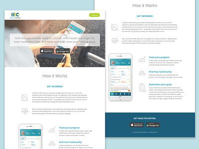 HealthyCapital landing page ux design clean minimal ui app product splashpage splash landing page landingpage website web