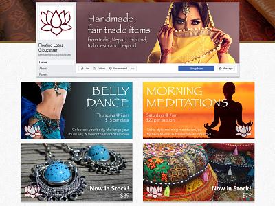 Floating Lotus social media graphics social graphics instagram ad facebook ad facebook instagram social network social media socialmedia social
