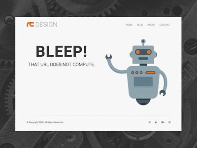 Portfolio 404 Page interface ui clean minimal responsive 404 web design website web