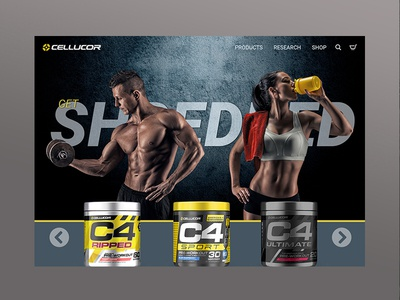 Supplement Product mockup hero image landing page homepage athletic bodybuilding fitness product ecommerce website web mockup
