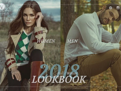 Study: Fashion Lookbook prototype sketch principle web ux ui animation lookbook fashion