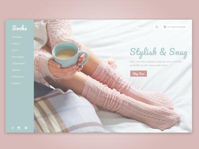 Study: Minimal Clothing clean soft minimal ecommerce socks clothing typography product design website ux ui web