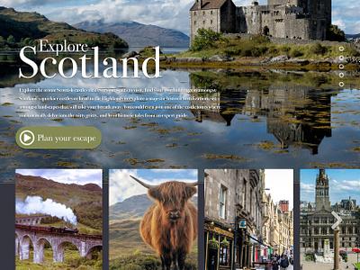 Celtic Tours travel site ux ui design graphic design web design ui  ux scotland tourism travel website web