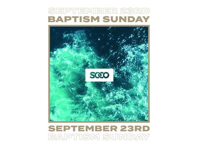 Sunday Sunday Sunday design type layout print photoshop water photo graphic church design church nwa arkansas