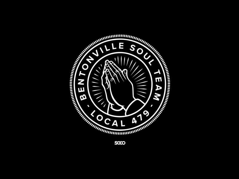 Bentonville Soul Team - LOCAL 479 type prayer badge shirt tee graphic apparel merchandise design church arkansas