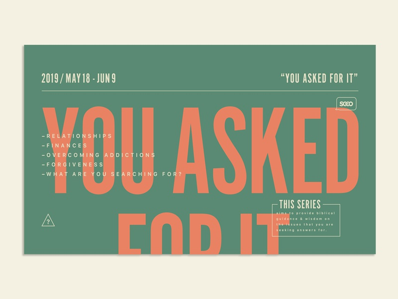 You Asked For It graphic church typography type nwa arkansas