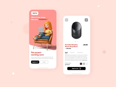 e-commerce app minimal user interface graphic design 3d icon flat figma ecommerce creative concept clean app design mobile app logo design ui app mobile ux branding