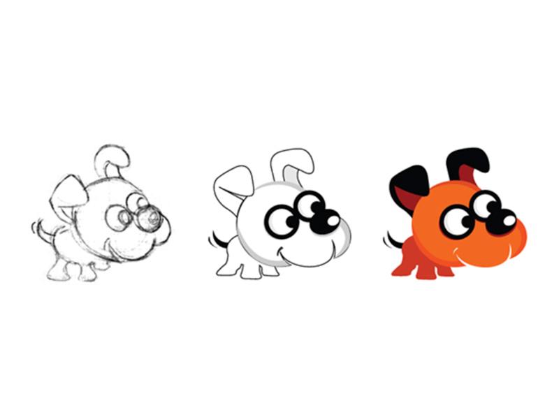 Dog Character Design design colours application icon mascotlogo mascot character creative agency vector illustration