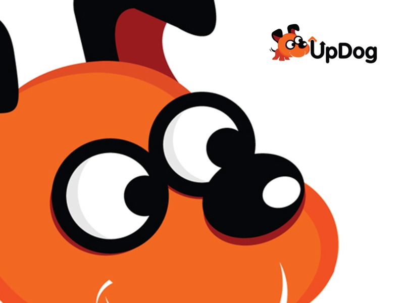 UpDog app icon colours design illustration creative mascot design mascot character character designs creative agency vector art application icon