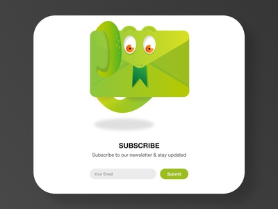 UI design for subscribing to our newsletter