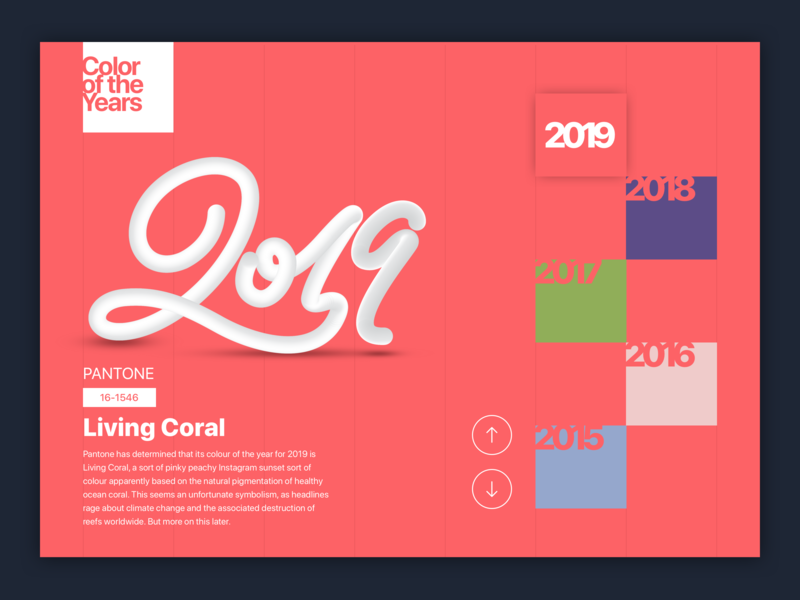 Living Coral Color Of The Years 2019 By Neveraemje Dribbble