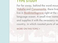 Type Study