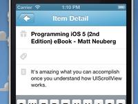 Item Detail Screen