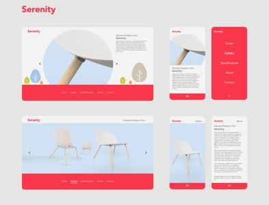 Serenity Chair branding design concept mobile ui ui  ux webdesign industrialdesign furniture design