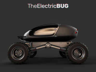 the Electric Bug industrialdesign scifi fantasy concept design electric car car design 3d design