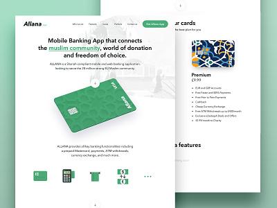 Allana - bank app rizq site ui community web payment pay card bank arabic muslim app