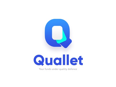 Quallet logo funds crypto payment design logo q cards bank app pay money wallet