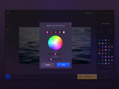 New Color Style dark violet ui app palette spectrum picker color