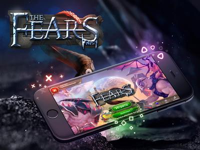 the Fears game ui & logo design